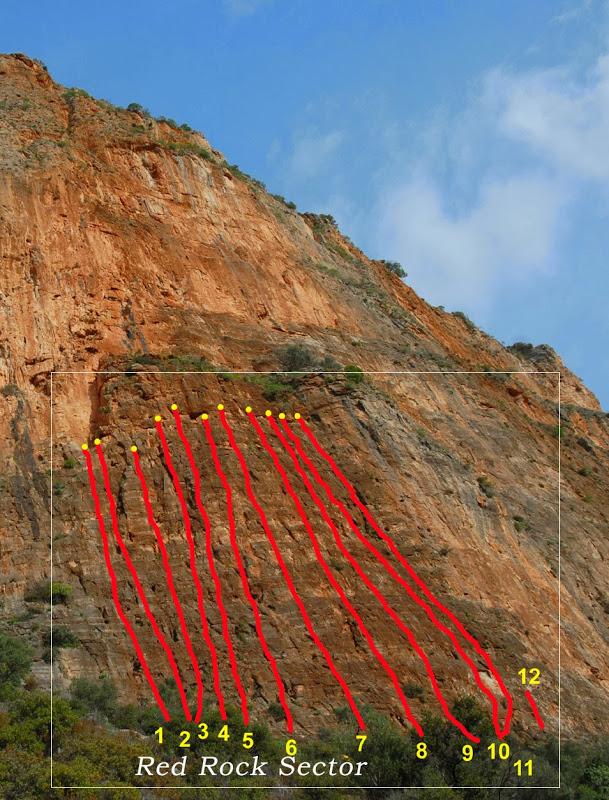 KOKKINOVRACHOS – REDROCK (13 Climbs)